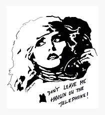 Debby Harry Blondie Hanging on The Telephone Photographic Print