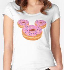 Mouse Donut Women's Fitted Scoop T-Shirt