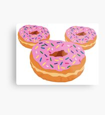 Mouse Donut Metal Print