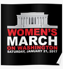 Women's March on Washington January 2017 Poster