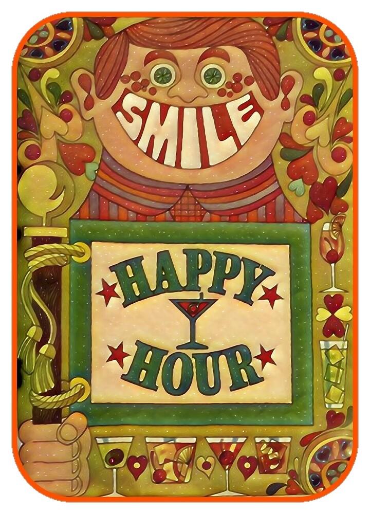 Retro Vintage Happy Hour Smile 70's  by RainbowRetro