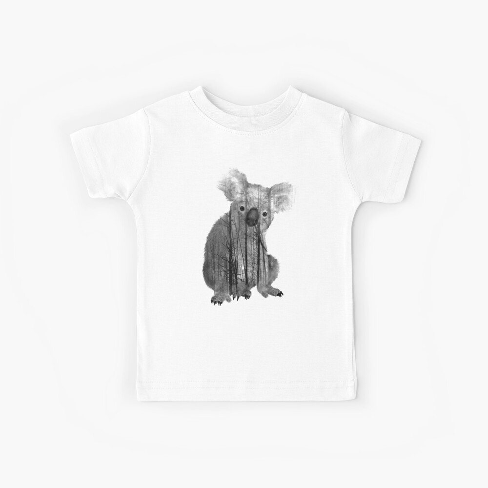 Australischer nebelhafter Waldkoalabär Kinder T-Shirt