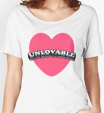 UNLOVABLE | TRENDY AESTHETICS TEXT ONLY GRAPHIC TEE Women's Relaxed Fit T-Shirt