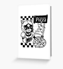 Cerviches Pizza Greeting Card