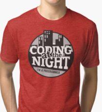 Coding At The Night Tri-blend T-Shirt