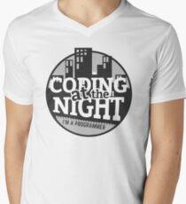 Coding At The Night Men's V-Neck T-Shirt