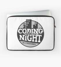 Coding At The Night Laptop Sleeve