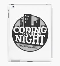 Coding At The Night iPad Case/Skin