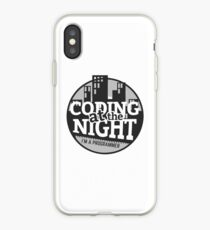 Coding At The Night iPhone Case