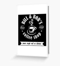 Coffee Shop Greeting Card
