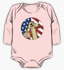 Calvin and hobbes america One Piece - Long Sleeve