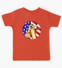 Calvin and hobbes america Kids Tee