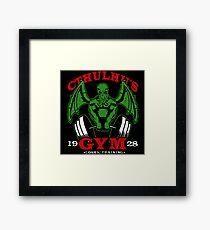 Cthulhus Gym Framed Print