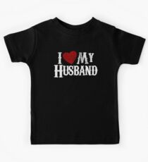 i love my husband Kids Clothes