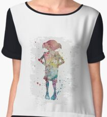 Dobby watercolor Chiffon Top