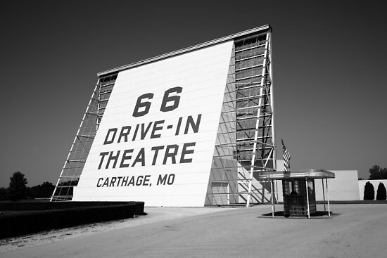 Route 66 - Drive-In Theatre by Frank Romeo