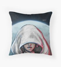 She is one with the Force... Throw Pillow