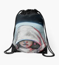 She is one with the Force... Drawstring Bag