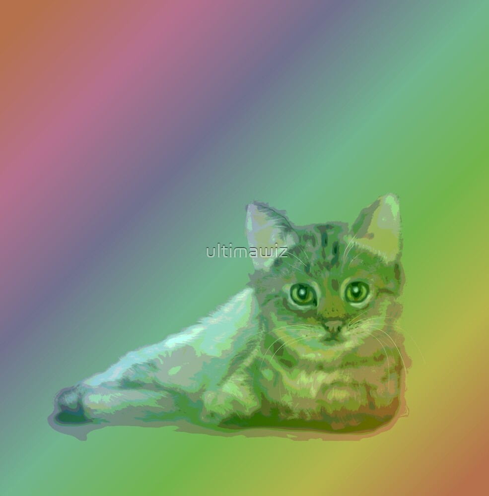 cat and rainbow by ultimawiz