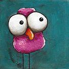 The pink bird by StressieCat