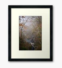 Fog on Barbennaz Framed Print