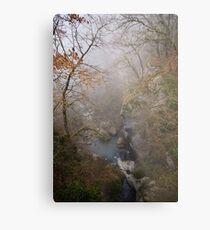 Fog on Barbennaz Metal Print