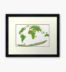 Continents of the World Framed Print