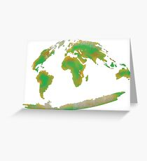 Continents of the World Greeting Card
