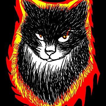 Cat - Burn by Nexubis