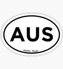 Austin Texas Airport Code AUS Sticker