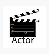 Actor Photographic Print