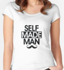 Kendrick Lamar - Self Made Man Women's Fitted Scoop T-Shirt