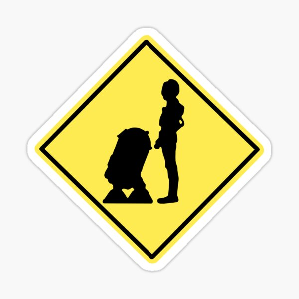 Droid Crossing Sticker