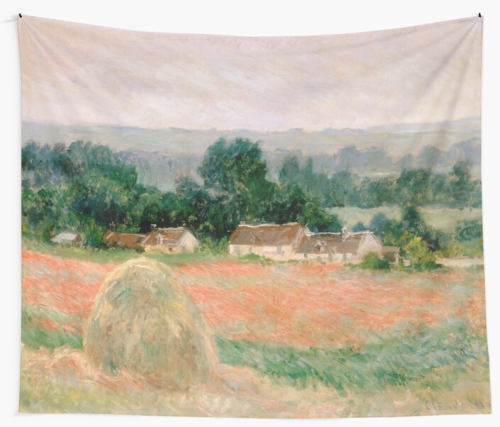 Haystack at Giverny by Claude Monet by VintageArchive