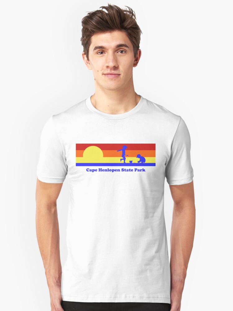 Cape Henlopen State Park Delaware Sunset Beach Vacation Souvenir Unisex T-Shirt Front
