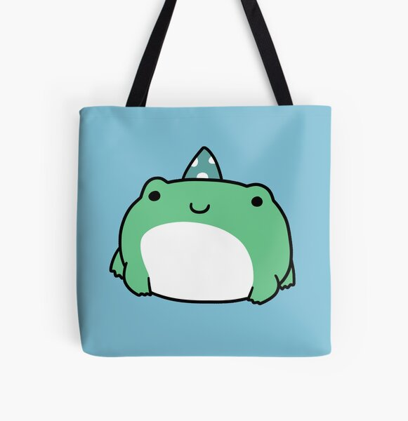 Party Hat Frog All Over Print Tote Bag