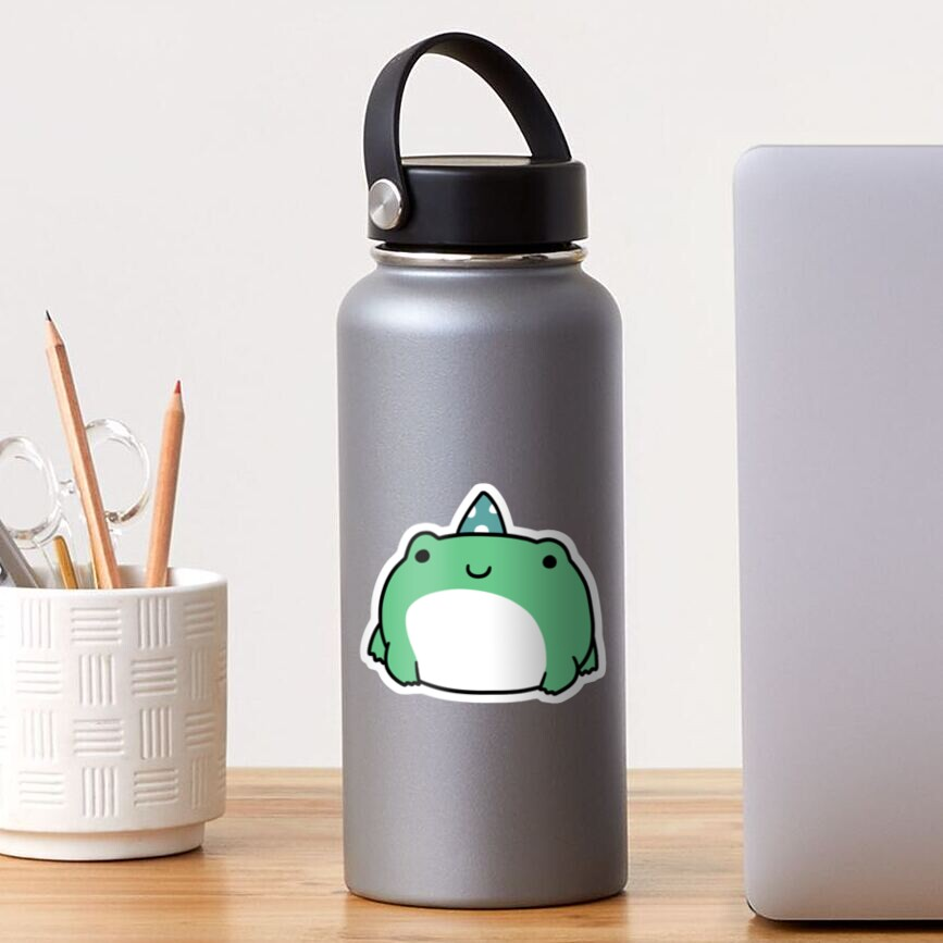 Party Hat Frog Sticker