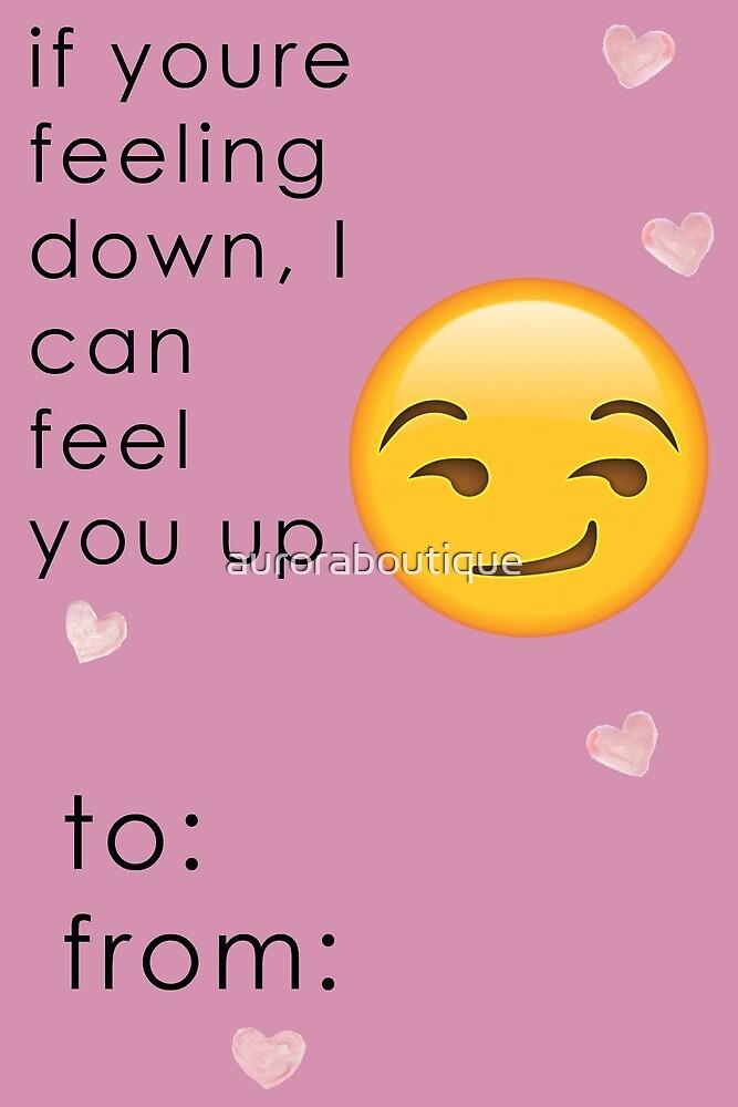 Emoji Valentine Card Funny by auroraboutique
