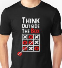 Think Outside the Box - X O games Fun by Aariv Unisex T-Shirt