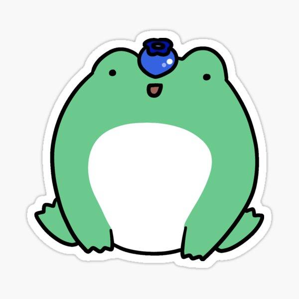 Blueberry Frog Sticker