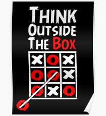 Think Outside the Box - X O games Fun by Aariv Poster