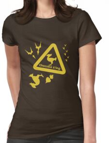 Chocobo print Womens Fitted T-Shirt