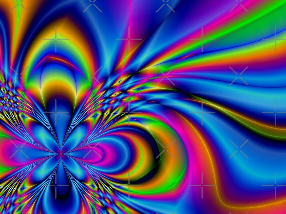 Multi colored abstract modern digital art by pixxart