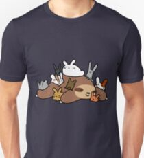 Bunnies and Sloth Unisex T-Shirt