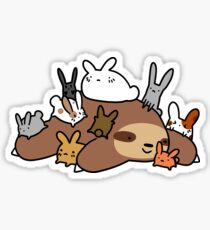 Bunnies and Sloth Sticker