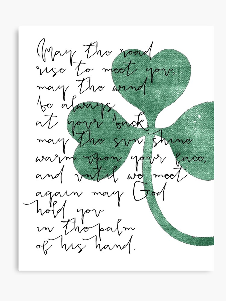 image regarding Printable Irish Blessing identify typography calligraphy, marriage ceremony print Estimate Print, Irish Blessing Printable decor wall artwork decor poster, could the street Canvas Print