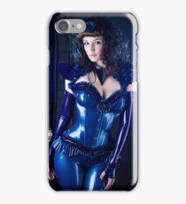 Blue latex corset 01 iPhone Case/Skin
