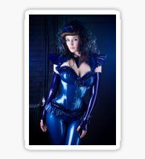Blue latex corset 01 Sticker