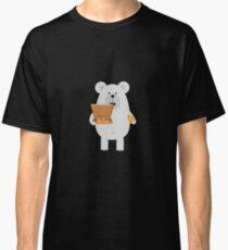 Polar Bear eating Pizza Classic T-Shirt