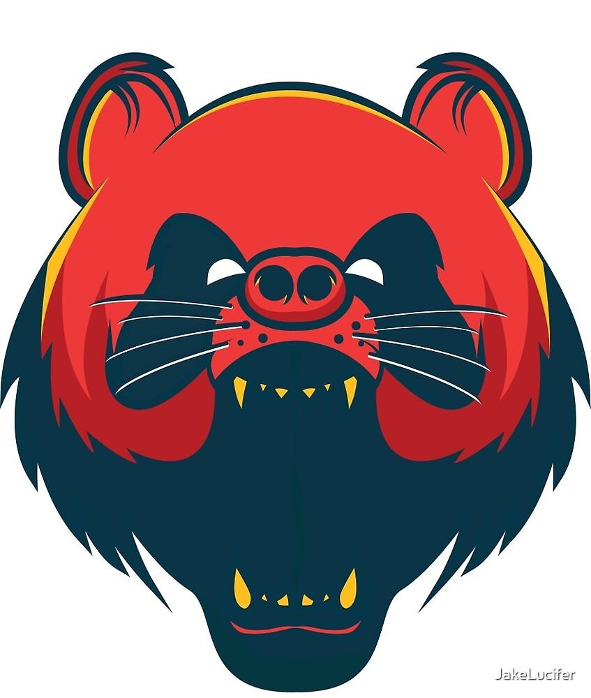 Red Panda Sticker by JakeLucifer